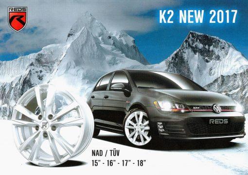 K2 HD 6,5x15 5x100 ET38 72,3